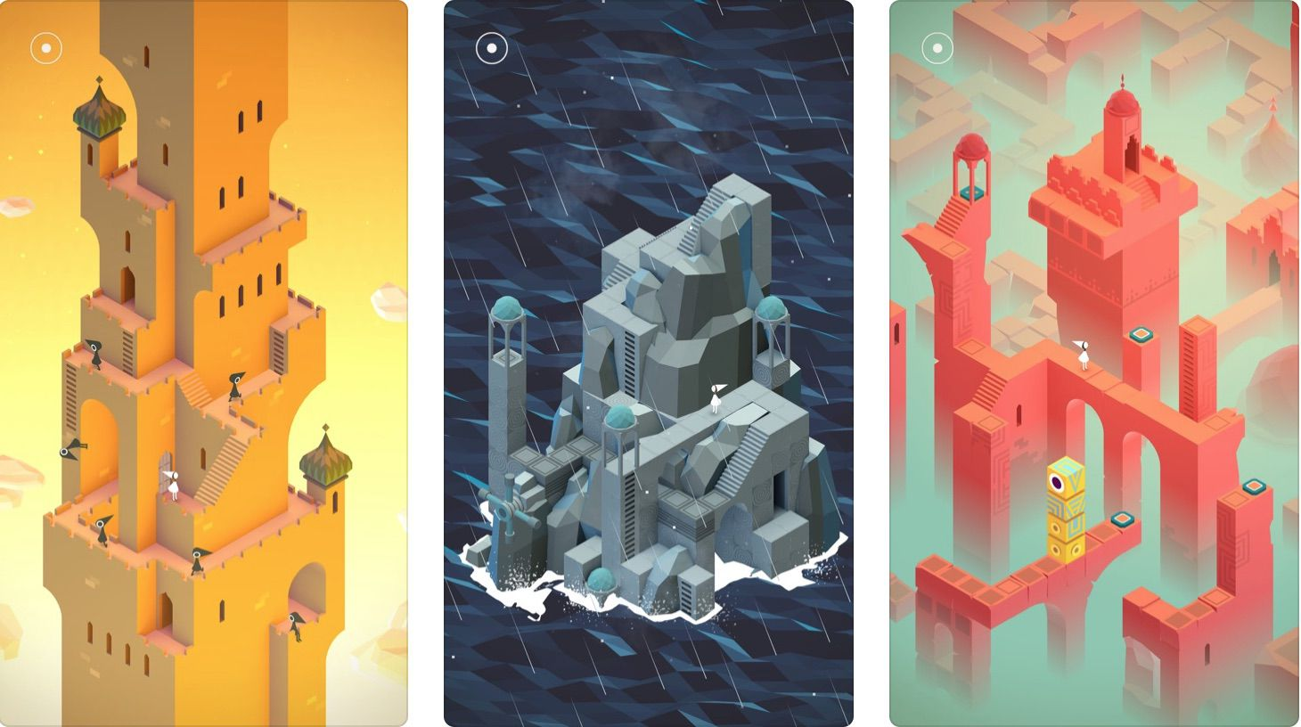 Game screens from Monument Valley