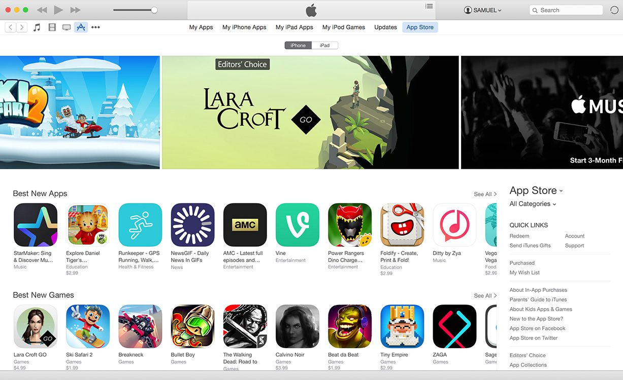 apps in the iPhone App Store