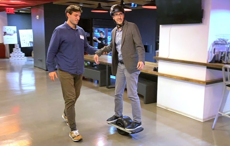 Lance Ulanoff on Onewheel