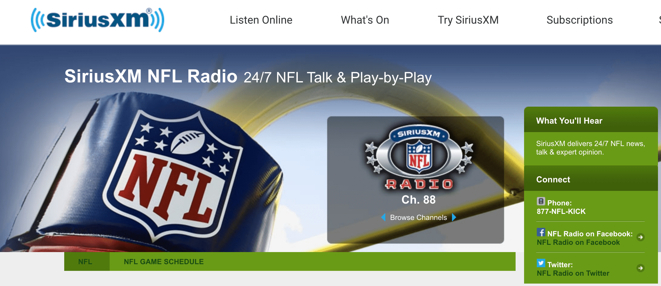 Nfl Schedule Channel Guide Siriusxm >> Ways To Listen To And Watch The Super Bowl On Radio