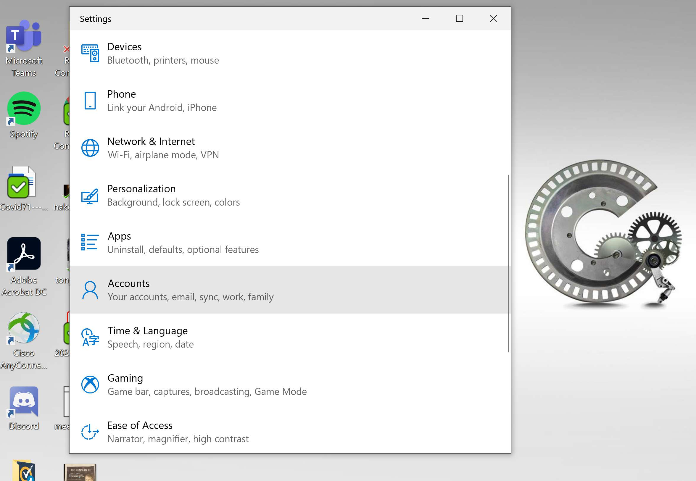 Disabling language sync in Windows 10.