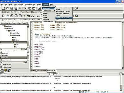 Linux and Unix HTML and XML Editors