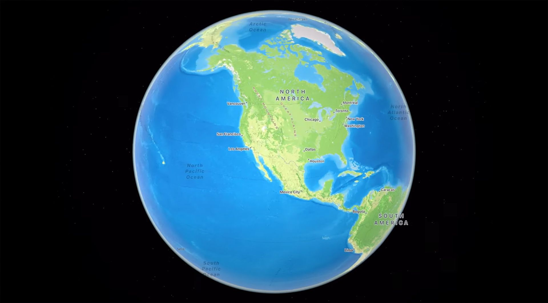 iOS 15 Apple Maps new 3D globe of the Earth feature