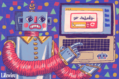 Illustration of a robot seeing a captcha test