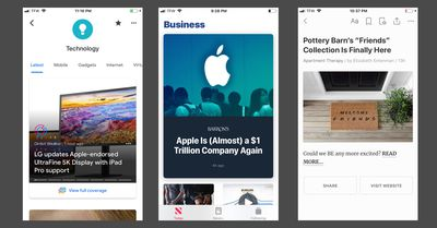A selection of some of the best news apps for iPhone in 2019