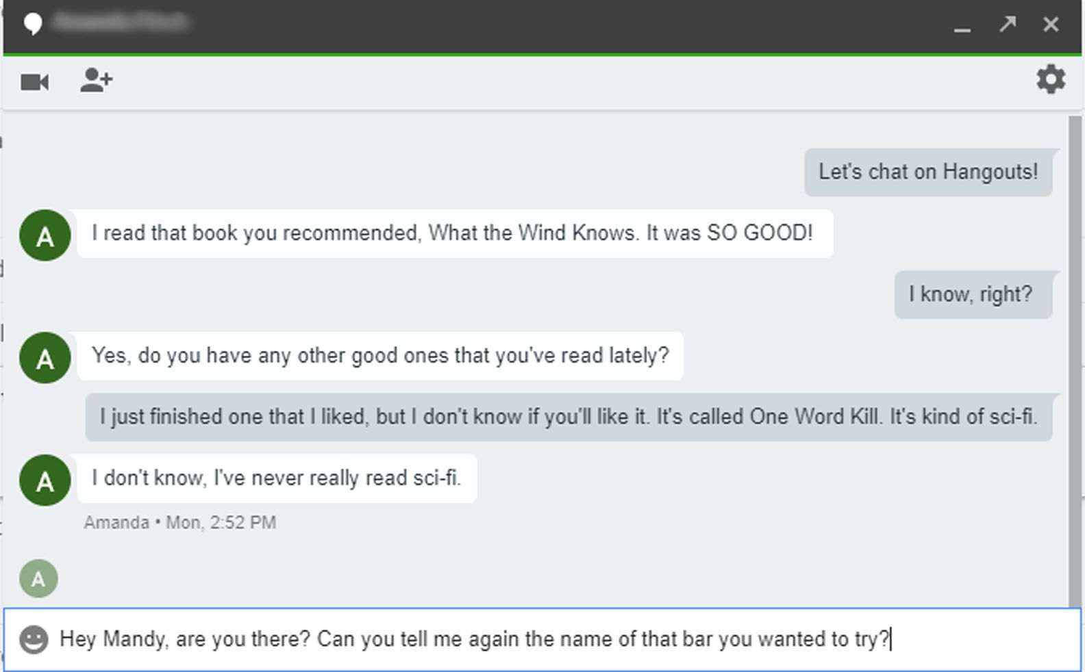 switch gmail accounts in google hangouts