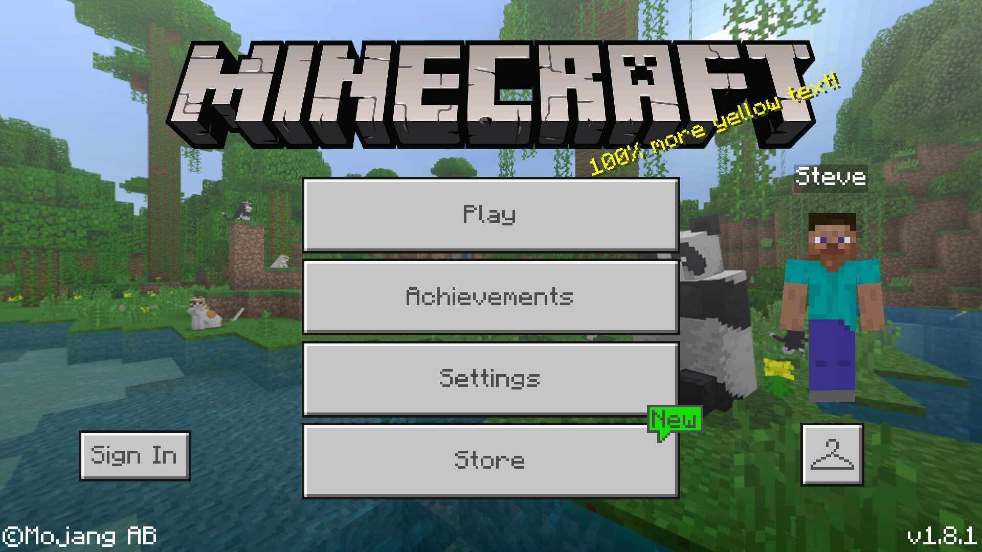 Minecraft Mobile Main Menu