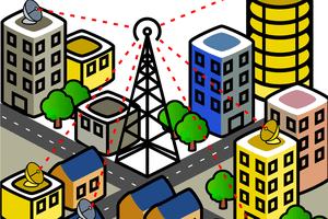 Connected city illustration