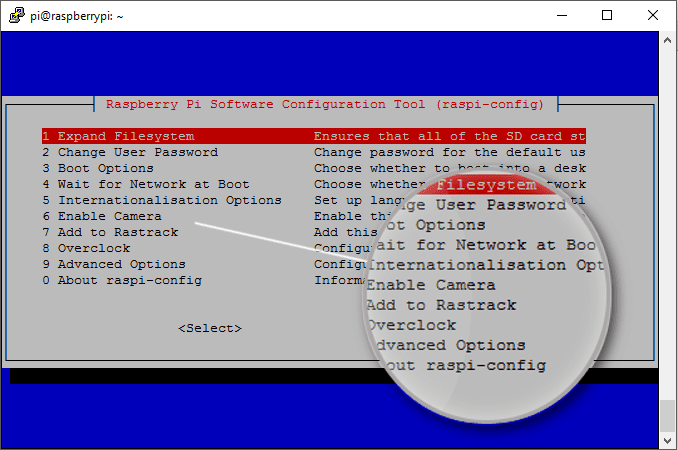 The Raspberry Pi Configuration Tool