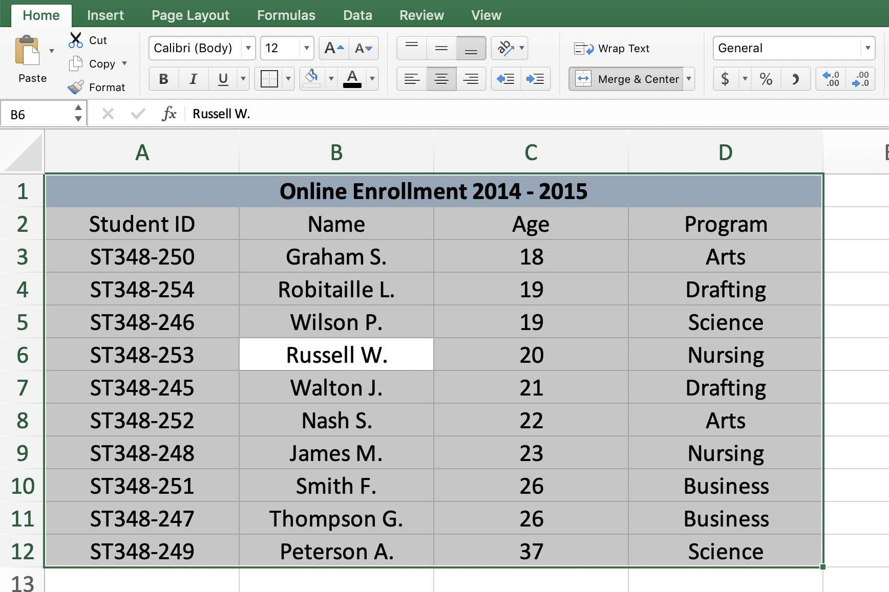 Excel Shortcuts to Select Rows, Columns, or Worksheets