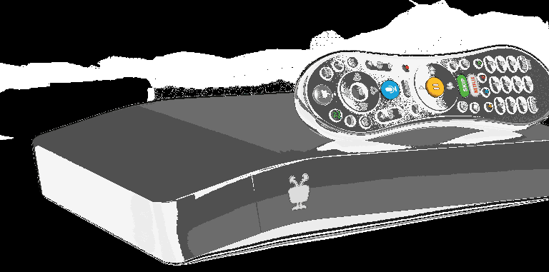 A Tivo DVR unit and tivo remote