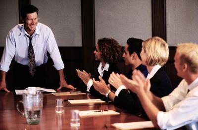 People in board meeting
