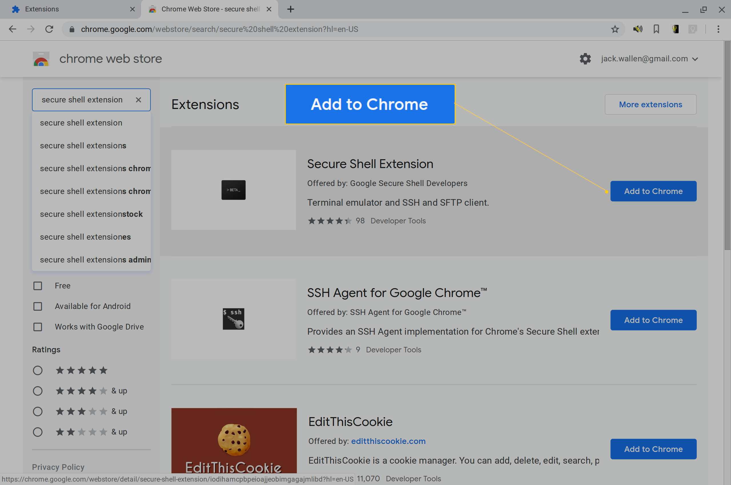 How to Use the Chromebook SSH Client