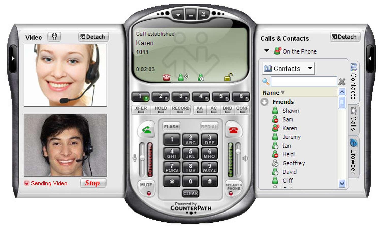 The Eyebeam Softphone App