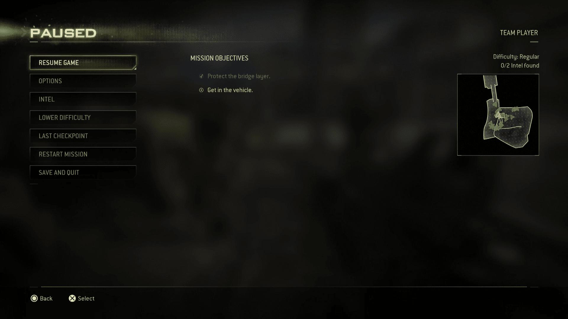 A screenshot of a PS4 game.