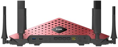 Rear view of a D-Link AC3200 (DIR-890L/R) wireless router
