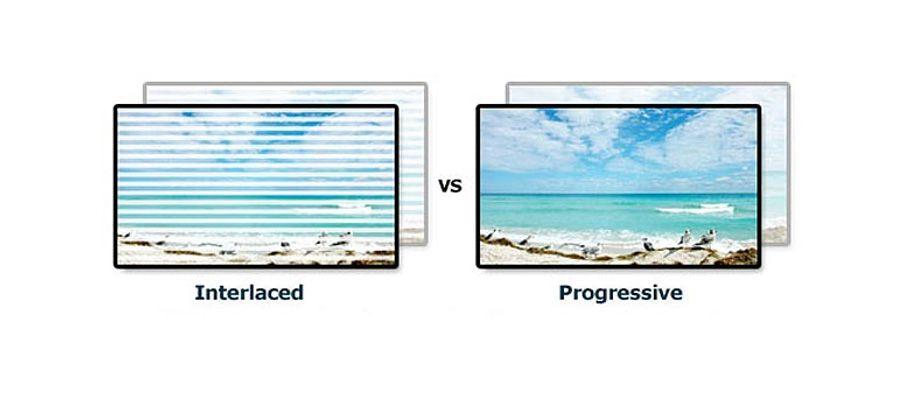 Interlaced scan vs progressive scan comparison