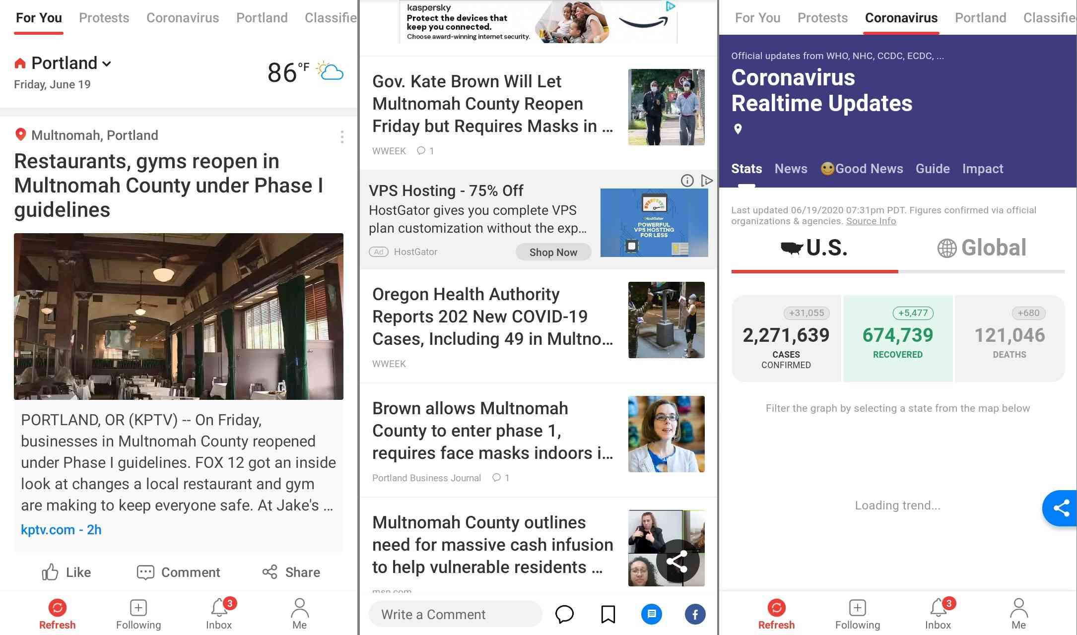 News Break RSS feed reader for Android
