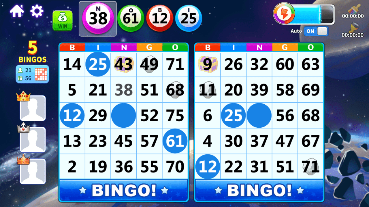 Screenshot of playing Wizard of Bingo on Android