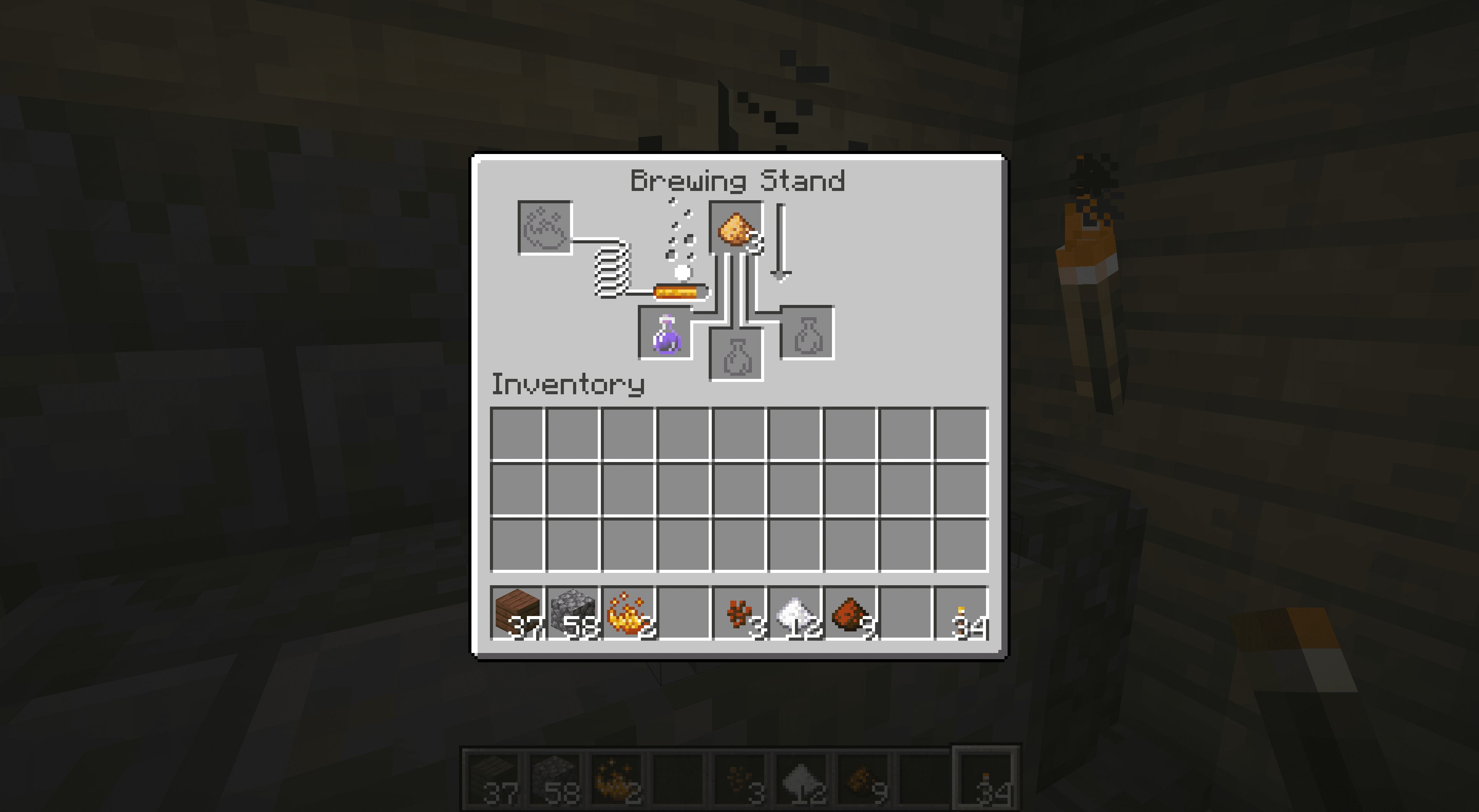 Improving a Potion of Harming in Minecraft.