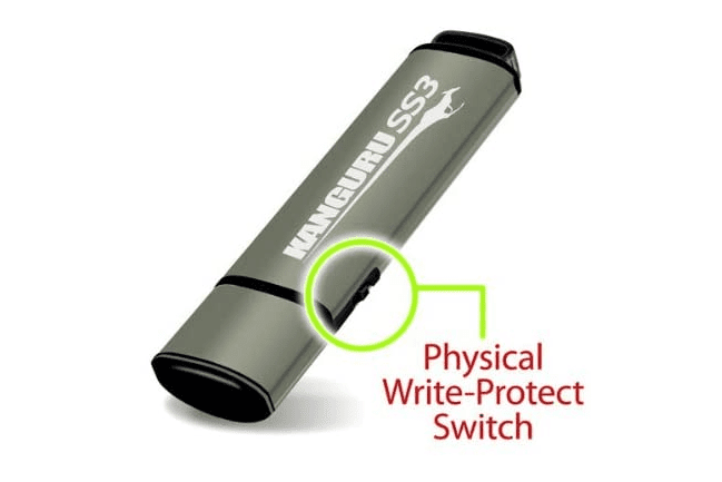 physical write-protection switch on USB device