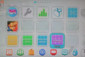 Menu folders on the Wii desktop