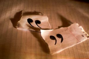 quotation marks written on paper