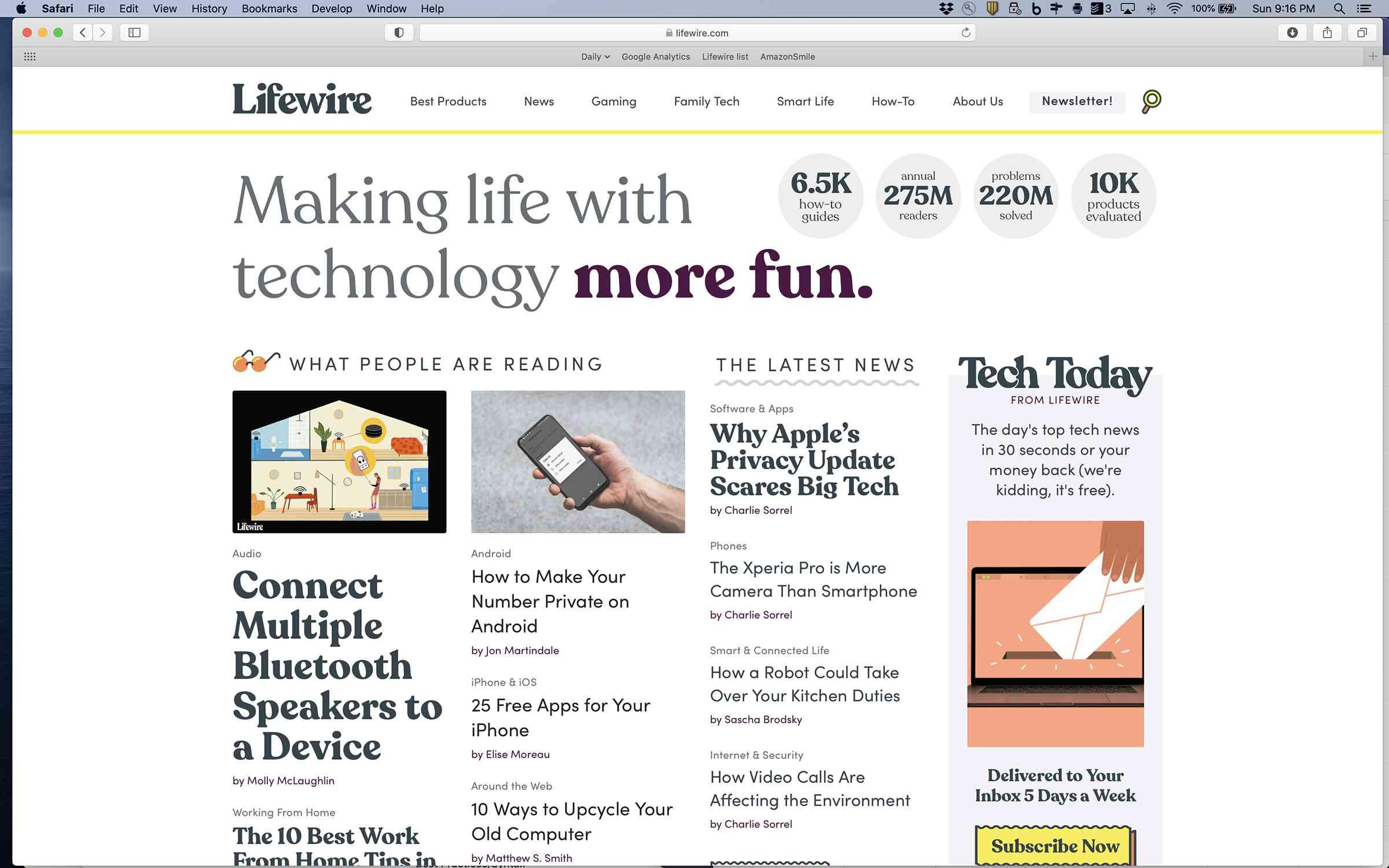 A screenshot of the Safari web browser