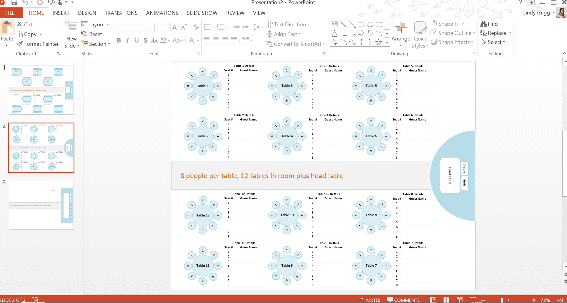 microsoft seating chart template