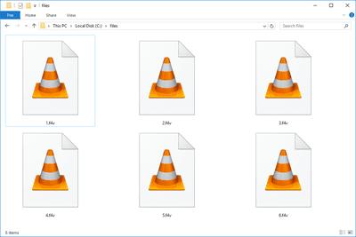 F4V files in a folder