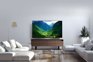 The LG C8 in a living room