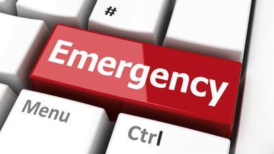 Emergency key on the computer keyboard