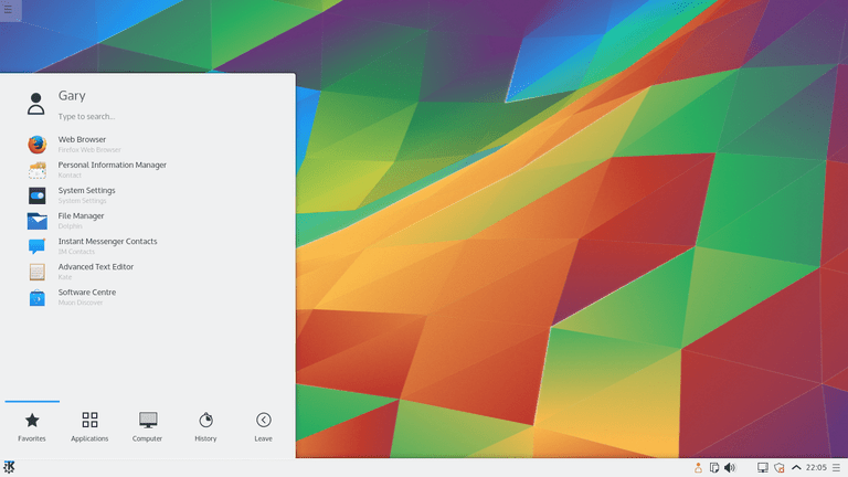 KDE Plasma Desktop