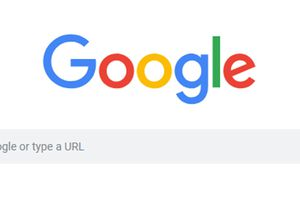 The Google logo and search bar.