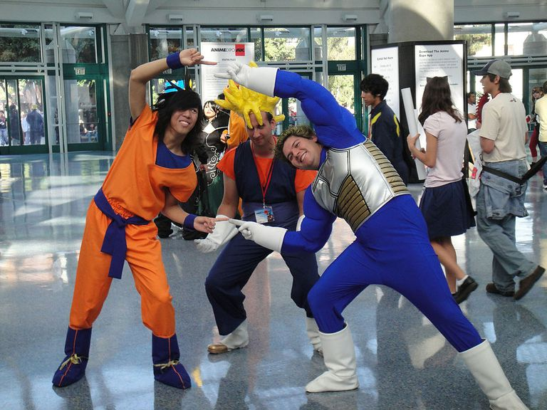 Cosplayers from Dragon Ball Z: Shin Budokai at Anime Expo 2010