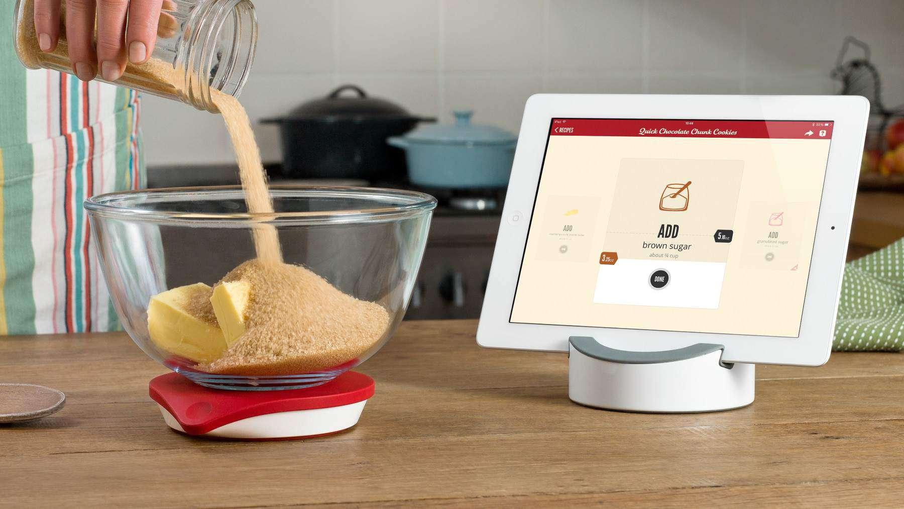 iPad with recipes