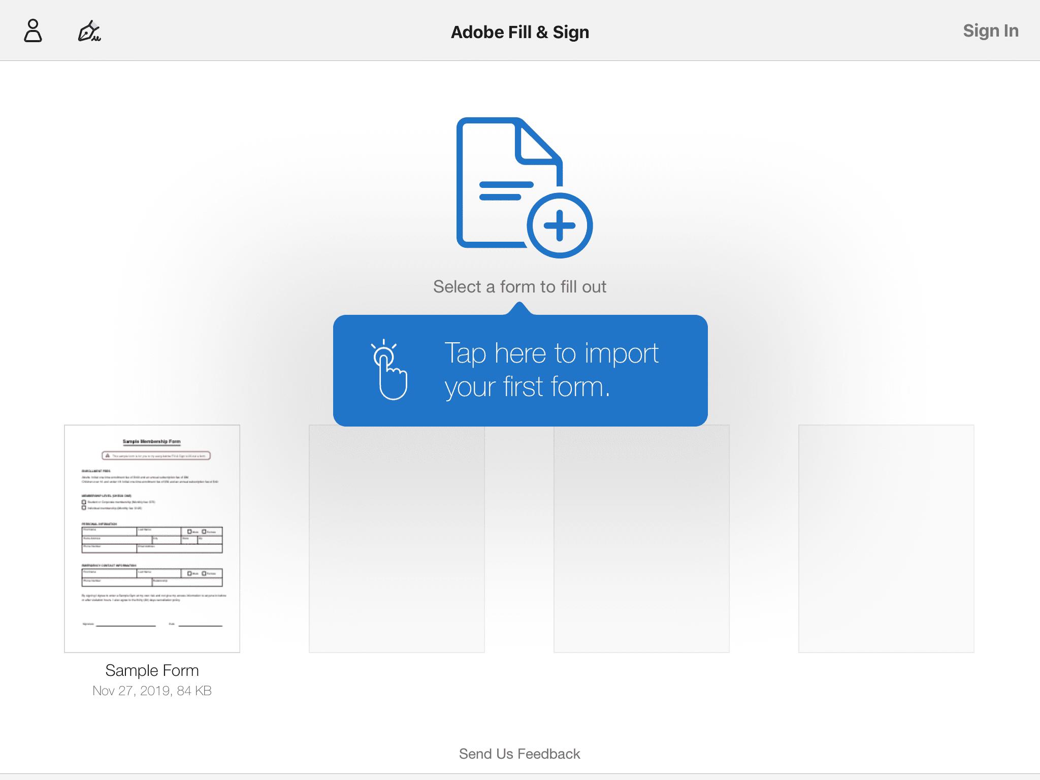 Adding a PDF to Adobe Fill & Sign
