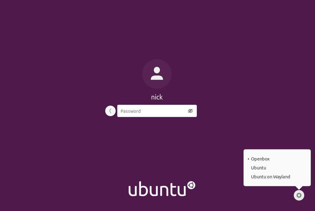 Ubuntu choose Openbox desktop