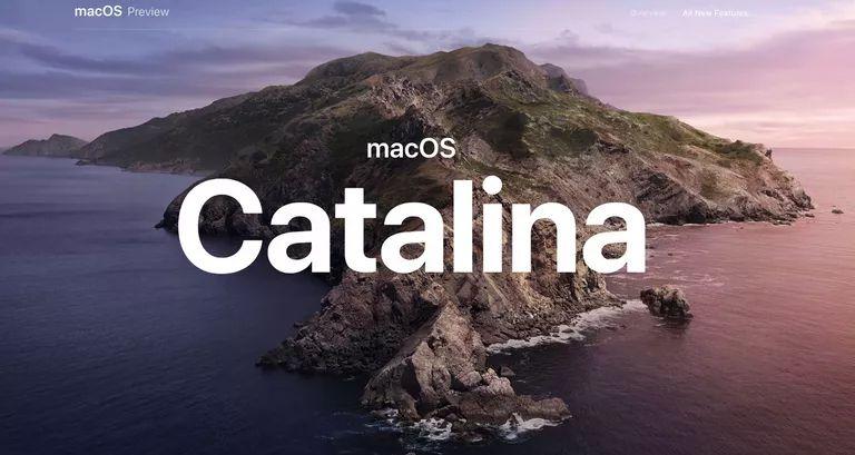 macOS Catalina screen