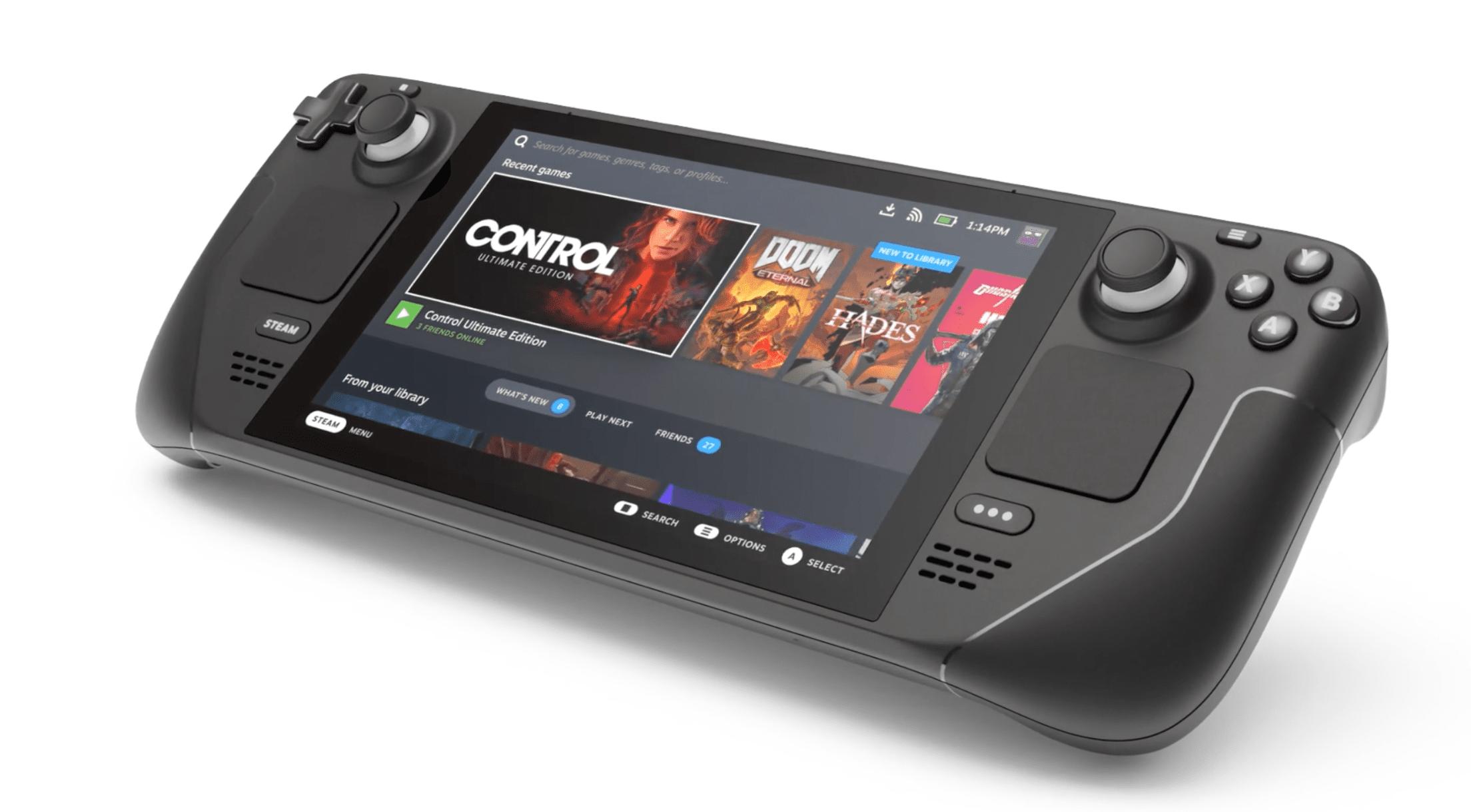 Valve's Steam Deck handheld gaming console