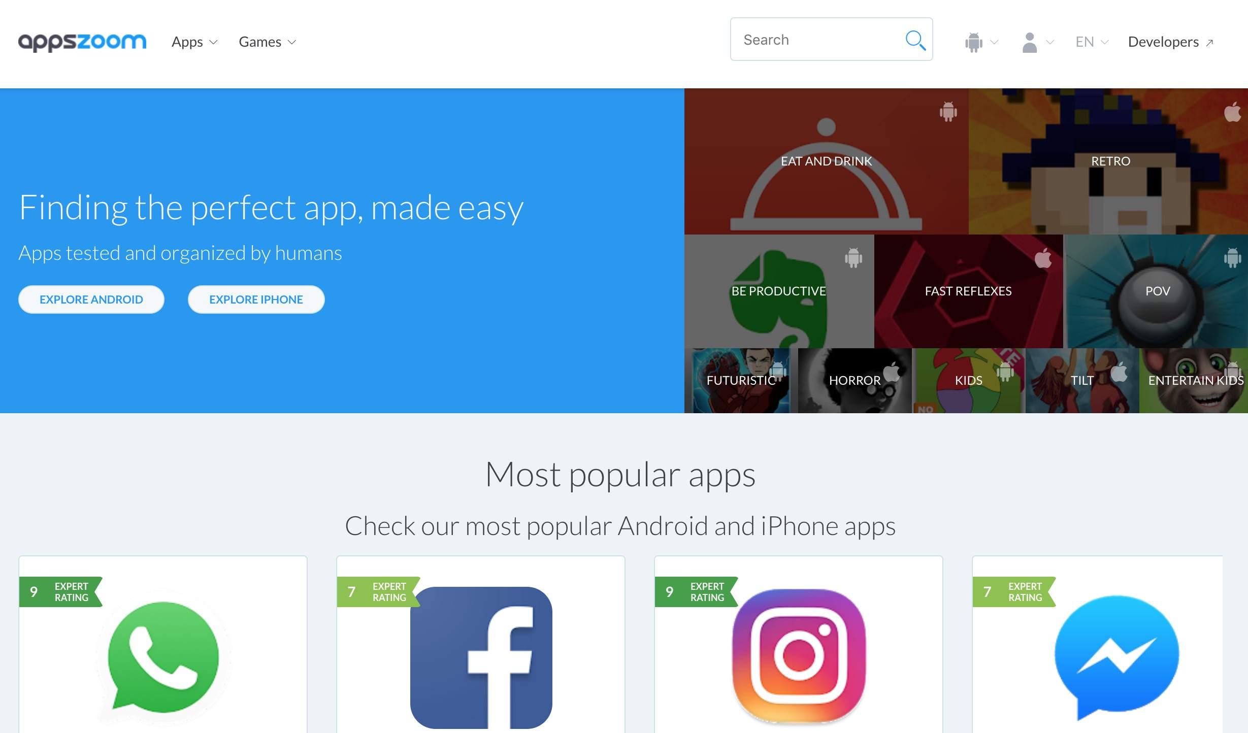 AppsZoom website