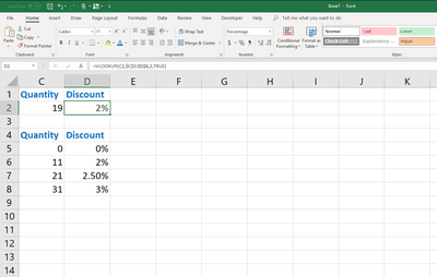 Verticale hook up Excel
