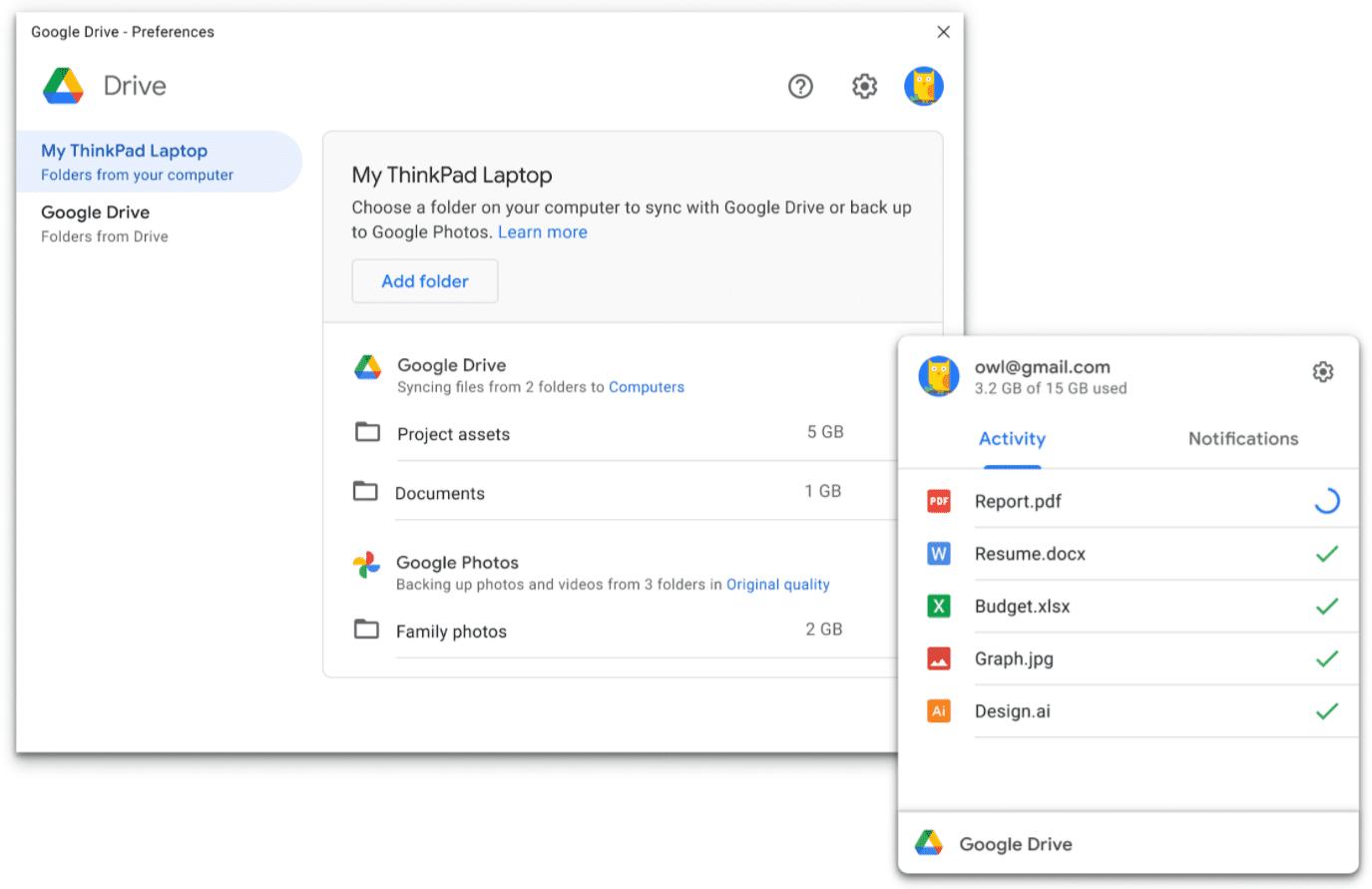 Google Drive for Desktop app