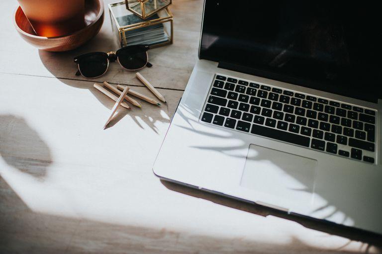 Close up of laptop / keyboard