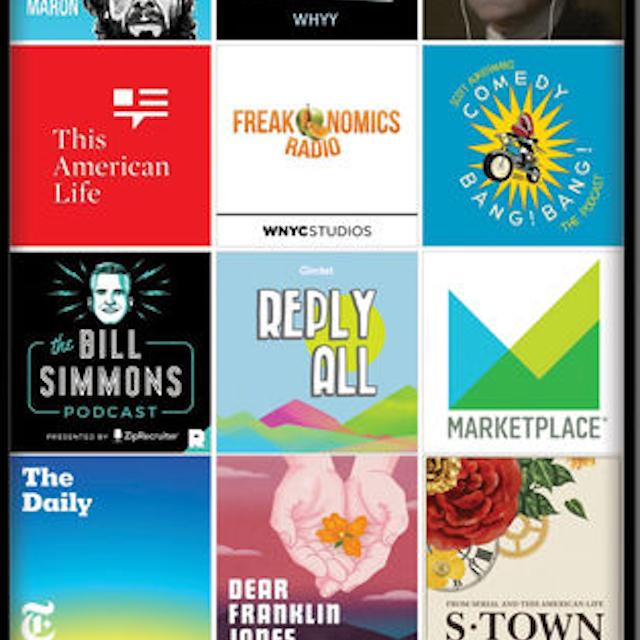 iPhone podcast app player, Stitcher