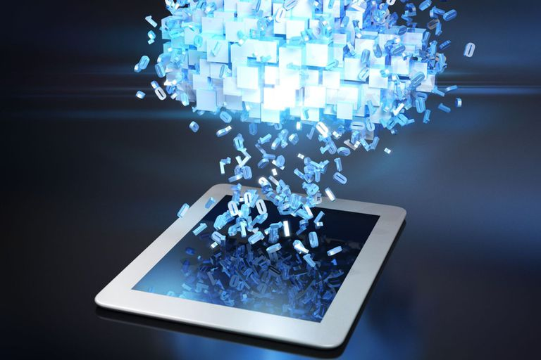 crystal cloud dropping numbers and letters into an ipad