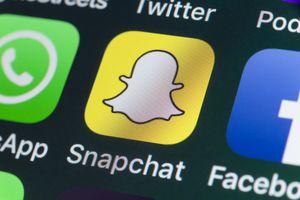 Snapchat logo on iphone screen