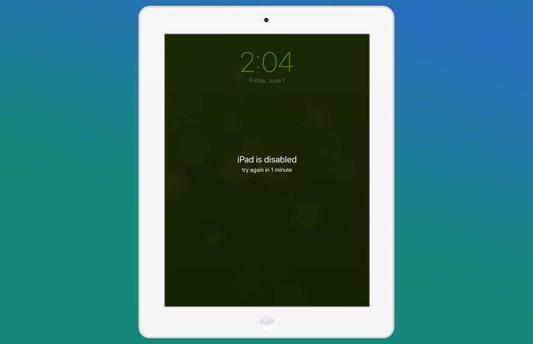 Screenshot of a disabled iPad