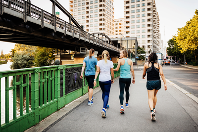 Image of several women walking together
