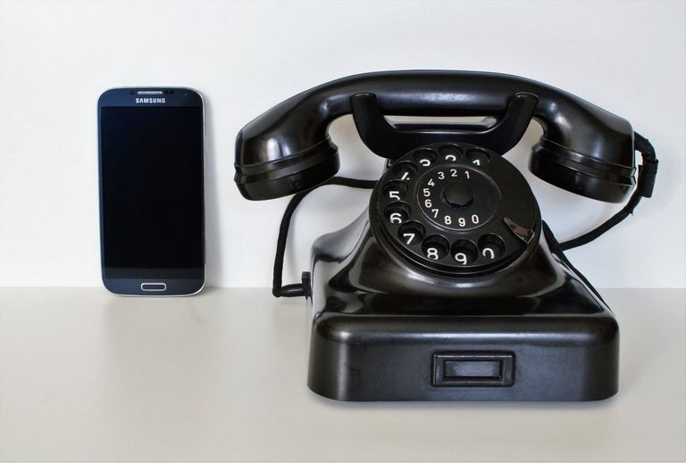Smartphone and desk telephone